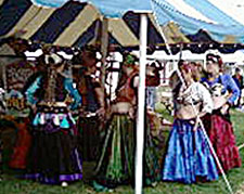 The Belly Dancers Under the Tent